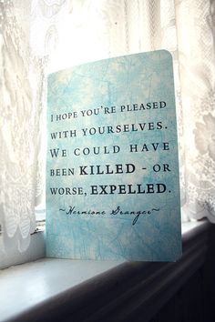 Hermione Granger Journal  Expelled Quote by literaryluxe on Etsy