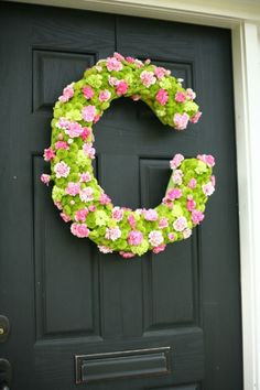 Such a perfect wreath for spring!  Visit www.brightleafatthepark.com to learn more about #Brightleaf at the Park near #RTP, #NC!  A peaceful, vibrant retreat, midway between #Raleigh and #Durham - the perfect blend of location, lifestyle, amenities and quality homes in a setting filled with natural wonder and #artistic expression.