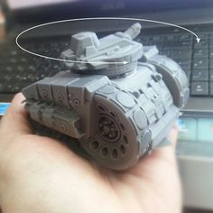 3d model of the tank Kronprinz. The model is ready for 3D printing. The turret rotates.