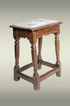 Elizabethan oak stool