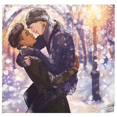 Malec winter wonderland (credit to tumblr notbeingcryptic) part 2 #malec #magnusbane #aleclightwood