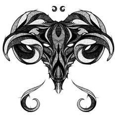 This would be an awesome piece for between the shoulder blades! #Aries #tattoo #awesome