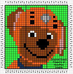 Long time no graphs, eh? I know, 9 days really isn't that long, but it feels like forever! My family and I are finally back at home in China and all recovered from jet lag. Graph Crochet, Pixel Crochet, C2c Crochet, Crochet Pattern, Beaded Cross Stitch, Cross Stitch Patterns, Zuma Paw Patrol, Modele Pixel Art, Corner To Corner Crochet