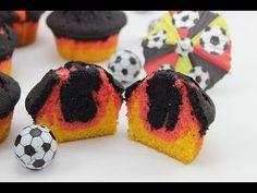 Muffins in schwarz-rot-golden - inklusive Anleitung / Tutorial