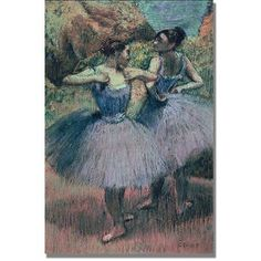 Trademark Fine Art Dancers in Violet Canvas Art by Edgar Degas, Size: 35 x 47, Multicolor