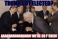 Laughing Men In Suits