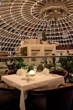 Perlan - 360 degree revolving restaurant in Reykjavik, Iceland!  See the entire city while you enjoy dinner!