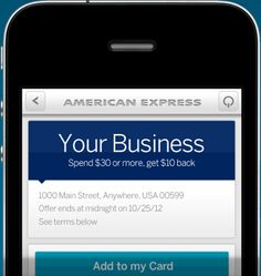 Amex Mobile App Includes Geolocated Offers