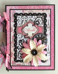 SALE Scrapbook Mini Album Girl Daughter Gift por ArtsyAlbums