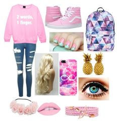 """""""Untitled #171"""" by elainia on Polyvore featuring Topshop, Vans, Accessorize and Casetify"""