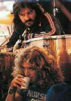 Childhood friends, Robert Plant and John Bonham