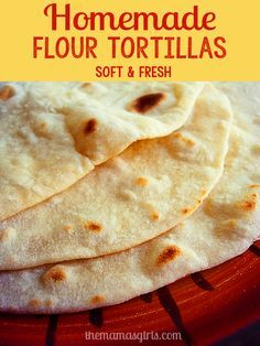 Oh how I love fresh homemade flour tortillas! These homemade tortillas are not difficult to make and they are so soft and fresh. They are perfect for tacos, burritos, enchiladas or even wraps. My husband actually uses his tortilla like an eating utensil! He tears off a small piece and scoops up his food...Read More »