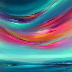 The Future Of Art – Investment Concepts – Buy Abstract Art Right Painting Inspiration, Art Inspo, Mandala, Pastel Art, Abstract Landscape, Colorful Abstract Art, Painting & Drawing, Painting Abstract, New Art