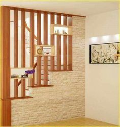 Shocking Amazing design of the partition beautiful space Room Partition Wall, Living Room Partition Design, Room Partition Designs, Room Divider Walls, Home Stairs Design, Railing Design, Interior Stairs, Home Interior Design, House Design