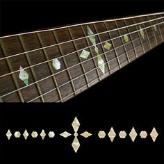 Fretboard Markers Inlay Sticker Decals for Guitar  Bass  Checker Diamonds  AWP -- You can find out more details at the link of the image.Note:It is affiliate link to Amazon. #Guitar