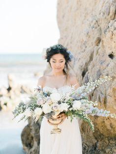 Coastal inspiration: http://www.stylemepretty.com/california-weddings/malibu/2015/06/19/elegant-california-coast-inspiration-shoot/   Photography: Honey Honey - http://www.hoooney.com/