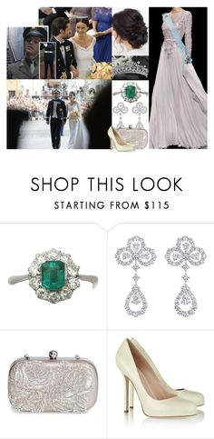 """""""Attending the wedding of Prince Carl Philip of Sweden and Sofia Hellqvist with Alex"""" by maryofscotland ❤ liked on Polyvore featuring Sebastian Professional, Elie Saab, Harry Winston, La Regale and Sergio Rossi"""