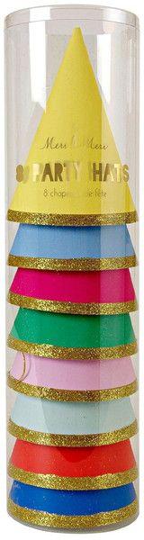 Assorted Colors Party Hats 8ct