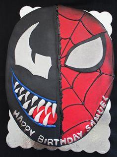 Spider Man And Venom Birthday Cake cakepins.com