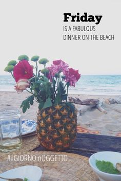 Friday is a fabulous dinner on the beach | #ilgiornoinoggetto