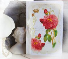 Royal Versailles Marie Antoinette Roses cards created by Paulette Kinney for Paper Nosh.