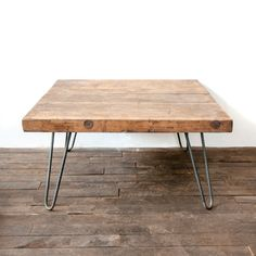 Wooden Coffee Table salvaged Butcher Block Barn by TheWhiteShanty