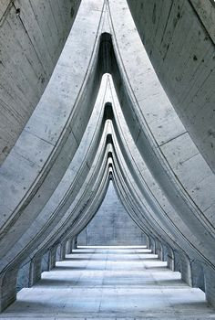 Architecture. Design. Hallway. Concrete.