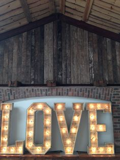 The Word is Love at Owen House Wedding Barn