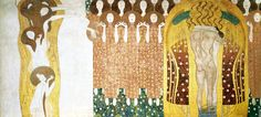 Gustav Klimt, Beethovenfries: Diesen Kuss der ganzen Welt (1902)