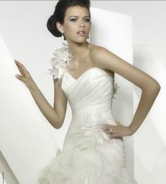 The Suffolk Wedding Dress Exchange is a Bridal Barn in Framlingham, Suffolk selling sample and once worn designer weddding dresses at discounted prices. New York Wedding Dresses, Madeline Gardner, Bridal Boutique, Ruffles, One Shoulder Wedding Dress, Prom Dresses, Bridesmaid, Fashion, Maid Of Honour
