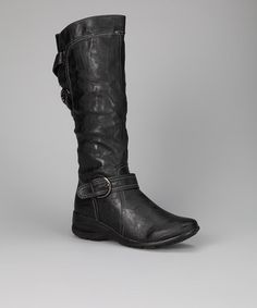 Take a look at this Black Cynthia Boot by Luxe Looks: Women's Shoes on @zulily today!