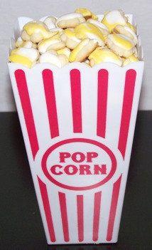 200 mini Popcorn Cookies in a Popcorn Box - Decorated Sugar Cookies Mini Sugar Cookies. $20.00, via Etsy.