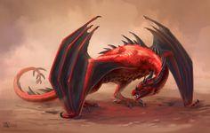 Red dragon by Azany.deviantart.com on @DeviantArt