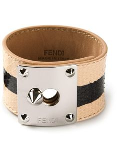 FENDI Chunky Striped Bracelet