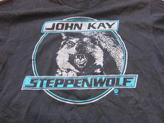 Vintage Steppenwolf John Kay Magic Carpet Ride Black Silver