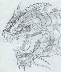 Drawing Art, Art Drawings, Dragon Head, Conceptual Art, Dragons, Random Stuff, Illustrations, Artwork, Image