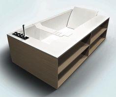 built in bathtub shelves