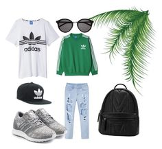 """sport day"" by drakouiliana on Polyvore featuring adidas Originals, adidas and Yves Saint Laurent"
