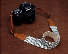 Christmas Gifts Bohemian series SLR Camera Strap Canon/Nikon Camera Strap DSLR Camera Strap Camera Strap --- Black And White Stripes