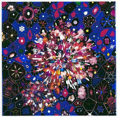 Caifornian born, Brooklyn-based artist Fred Tomaselli's images are an utter explosion of detail; leaves, pills, images of eyes and mouths, and acrylic-painted forms drape, interlace, and overlap to reproduce incredible visuals that evoke fairy-tale illustration and freewheeling psychadelica alike