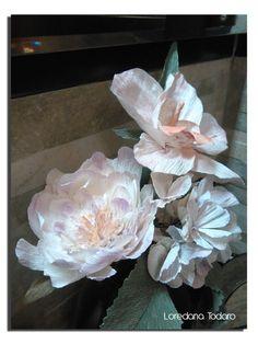 #crepe_paper #flowers #fiori di #carta_crespa