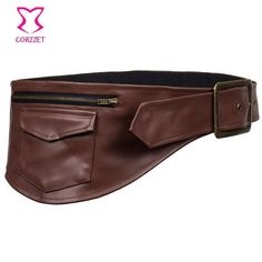 Brown Leather Waist Pouch Pocket Belt Steampunk Belt Bag -Corsets And Bustiers Sexy Burlesque Costumes Gothic Corset Accessories Waist Pouch, Belt Pouch, Purple Leather, Black Faux Leather, Steampunk Belt, Steampunk Clothing, Burlesque Outfit, Burlesque Costumes, Leather Bustier