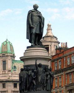 Daniel O'Connell statue in Dublin, Ireland.