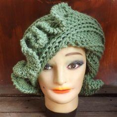 Crochet Hat Pattern - Crochet Hat Pattern Women - CYNTHIA Crochet Beanie Hat Pattern by strawberrycouture