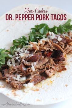 Looking for a new recipe for your slow cooker? How about an awesome recipe for Spicy Dr. Pepper Pork Tacos?!? DE-LISH! Pork Recipes, Real Food Recipes, Mexican Food Recipes, Cooking Recipes, Vegan Recipes, Copycat Recipes, Cooking Tips, Shredded Pork Tacos, Pulled Pork Tacos
