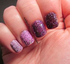 Purple Ombre with Shimmer: Lisa