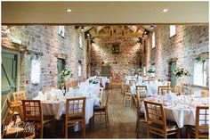 The East Barn at The Ashes before the wedding breakfast