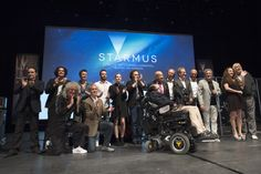 Brian May, Stephen Hawking and the rest of the Starmus 2016 participants.    (Photo by Max Alexander)