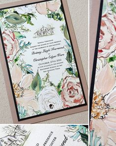 So beautiful.....watercolor invites from Momental Designs