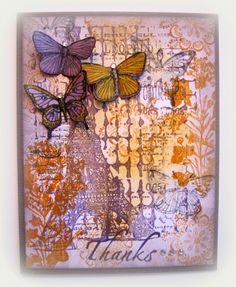 Thanks Stamped Collage Card